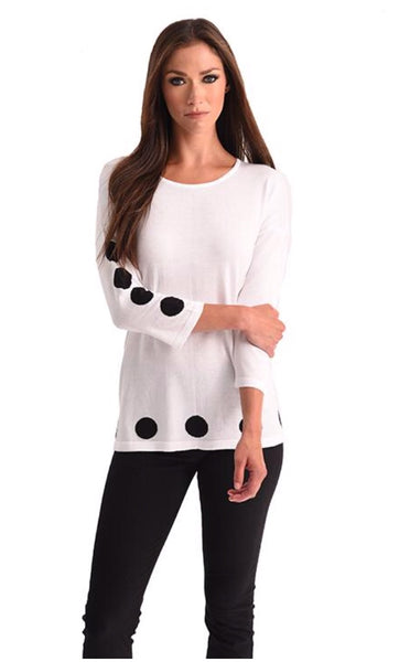 Angel Polka Dot Scoop Neck Top