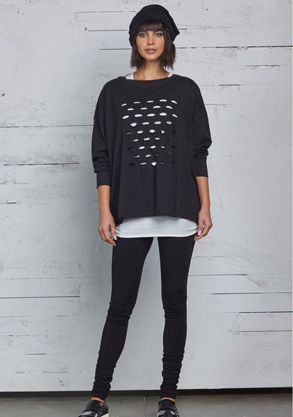 Planet Cut Out Boxy Tee
