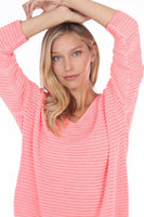 Flora Ashley Ribbed Long Sleeve Sweater