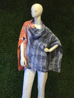 Cindi's Exclusive Hand Made Tie Dye Cowl Neck Planet Poncho