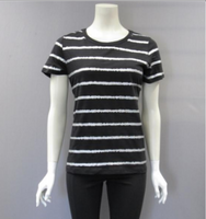 Metric Short Sleeve Metallic Stripe Tee