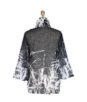 Damee Splattered Abstract Print Sheer Button Down Jacket