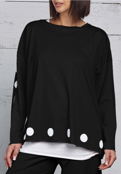 Planet Long Sleeve Polka Dot Tee
