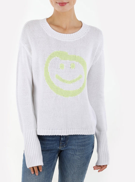 525 Smiley Face Cotton Shaker Knit Sweater