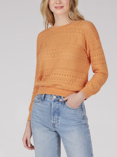 525 Featherweight Pointelle Knit Crewneck Sweater