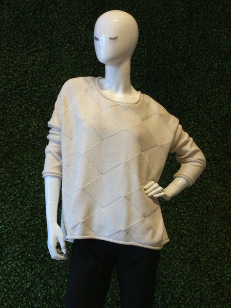 Planet Diamond Textured Sweater