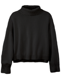 525 Ribbed Collared Long Sleeve Turtleneck