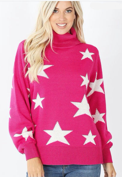 Star Turtle Neck Sweater