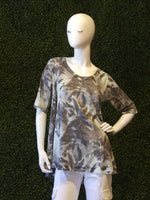 Nallly & Millie 3/4 Sleeve Palm Print Top
