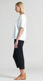 Clara Sunwoo Soft Cotton Stretch Top w/ Back V Cut Out Detail