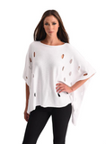 Angel Solid Cut Out Poncho