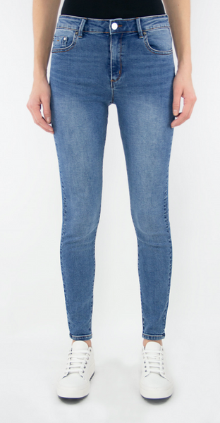 "Tractor ""Nina"" High Rise Knee Rips Jean"