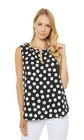 Worlds Best Polka Dot Split Neck Tank