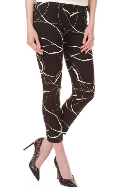 Worlds Best Pull-On Print Pant w/ Back Slit Detail