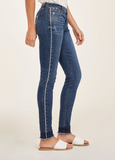 "Blue Revival ""Sienna"" Mid Rise Skinny w/ Side Seam Piping in Madrid"