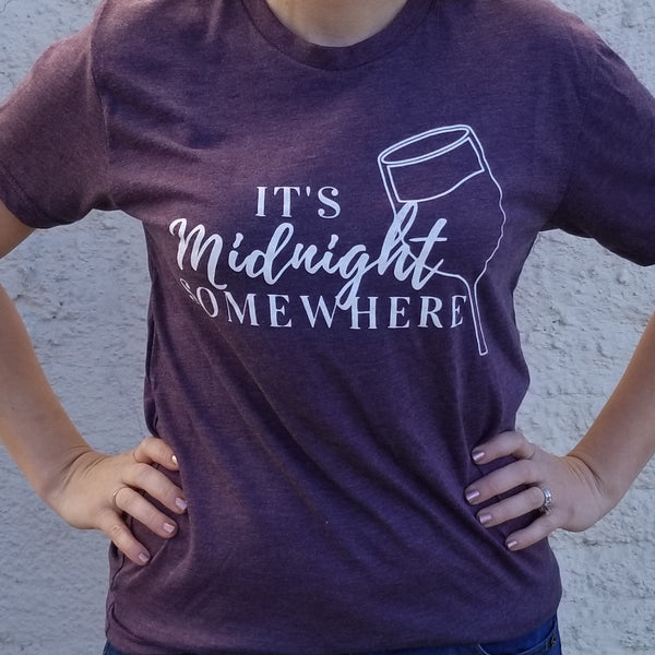 """It's Midnight Somewhere"" T-shirt"
