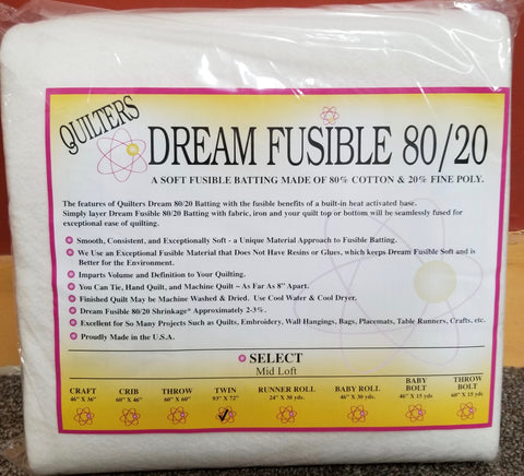Fusible Poly Batting by Quilter's Dream