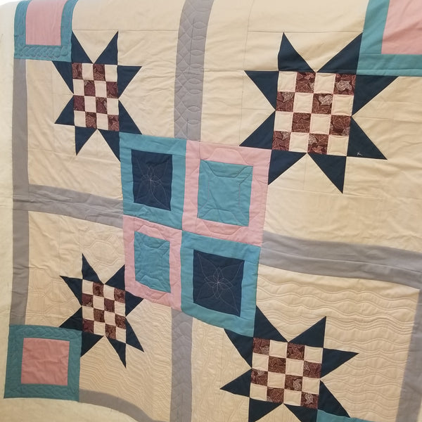 Checkered Squares Quilt Kit for the Mastering Rulers Class by Angela Walters