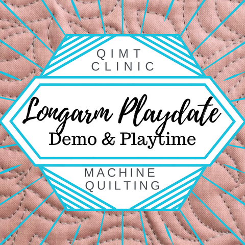 Longarm Playdate and Demo with Angela Walters: QIMT Machine Quilting Clinic