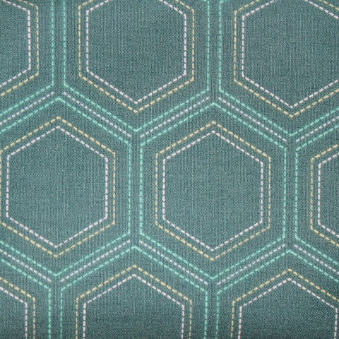 LGY-9303 Stitched Heritage hexagon fabric collection