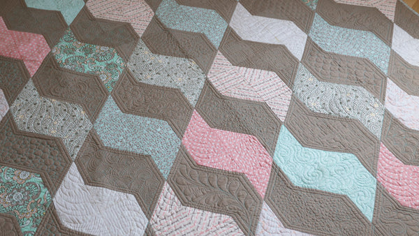 Coral Drift Quilt Kit by Angela Walters