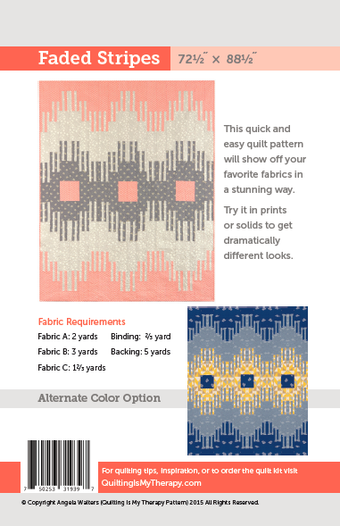 Faded Stripes Quilt Pattern