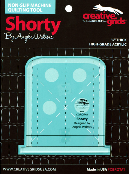 Shorty Machine Quilting Ruler Designed By Angela Walters & Creative Grids