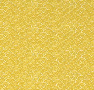 Midnight Garden Gold Swirls 1/2 yard