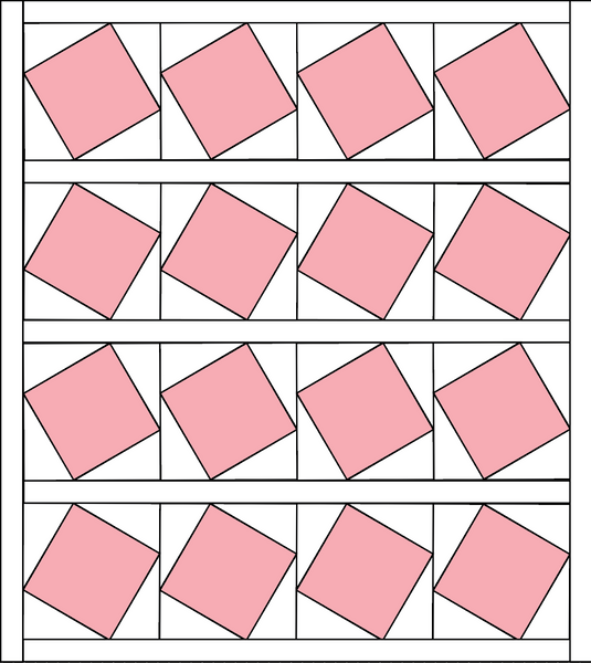 Slanted Squares Quilt Kit