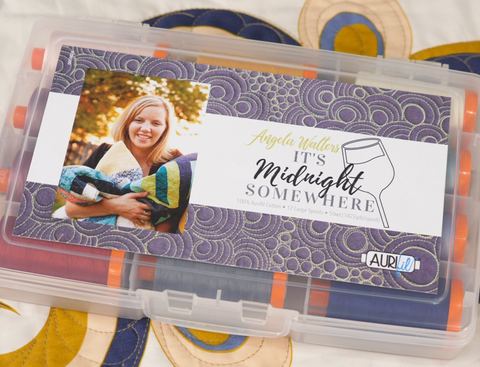 'It's Midnight Somewhere' Aurifil Thread Collection