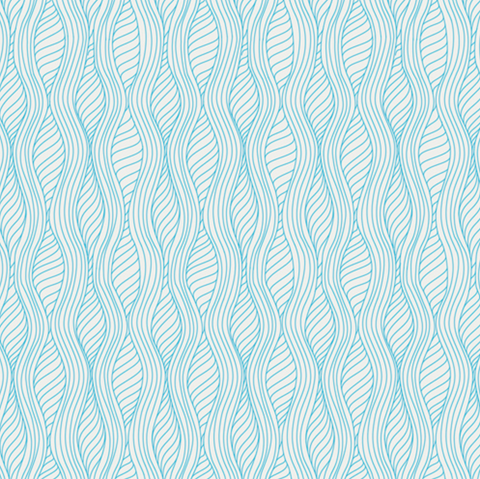 Drift Blue Waves Fabric by Angela Walters
