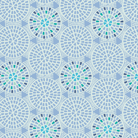Drift Blue Cobblestones Fabric by Angela Walters