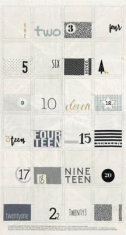 Zen Chic Advent Panel