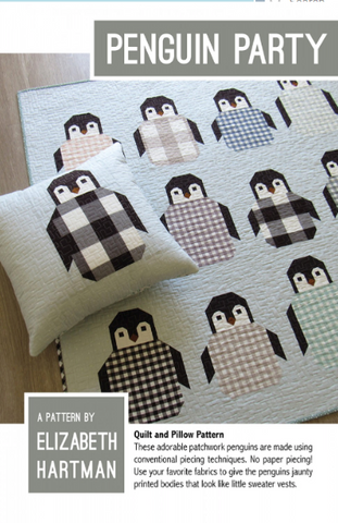 Penguin Party Quilt Pattern By Elizabeth Hartman