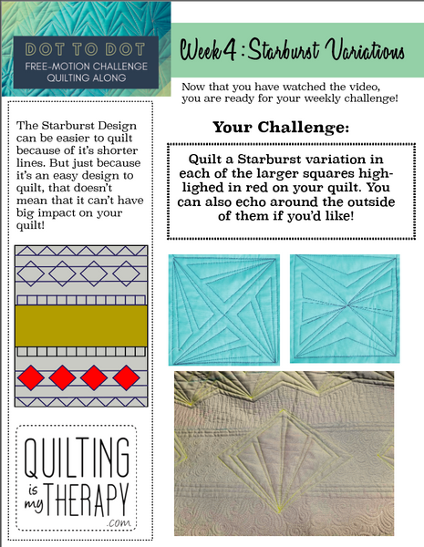 Week 4 FREE Tip Sheet and Diagrams Dot to Dot Free-motion Challenge Quilting Along