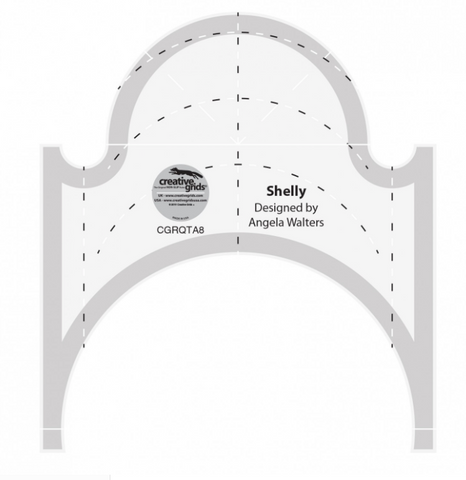 Shelly Machine Quilting Ruler by Creative Grids