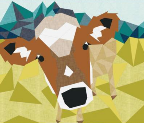Cow Abstractions Quilt Pattern