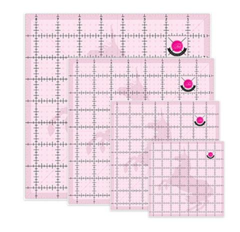 Tula Pink Set of 4 Square Templates with Unicorn