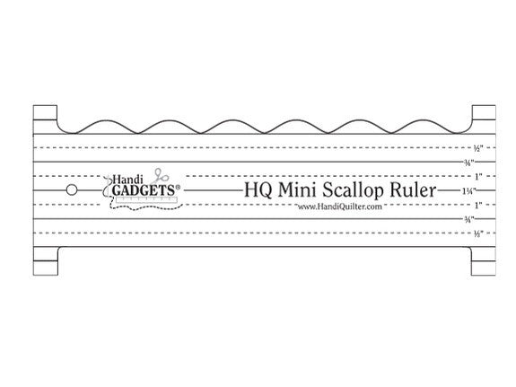 Handi Quilter Ruler Mini Scallop Ruler – Quilting Is My Therapy : handi gadgets quilting - Adamdwight.com
