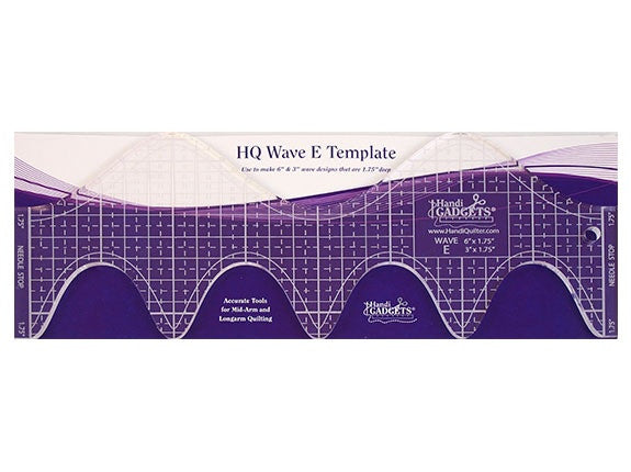 "Handi Quilter Wave E - 6"" and  3"" waves"