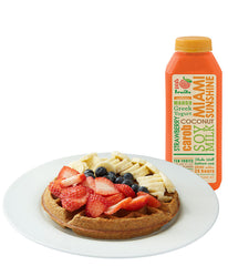 Whole Wheat waffle + super smoothie