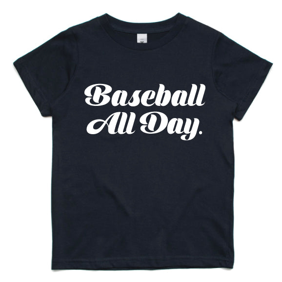 Baseball All Day Kids Tee