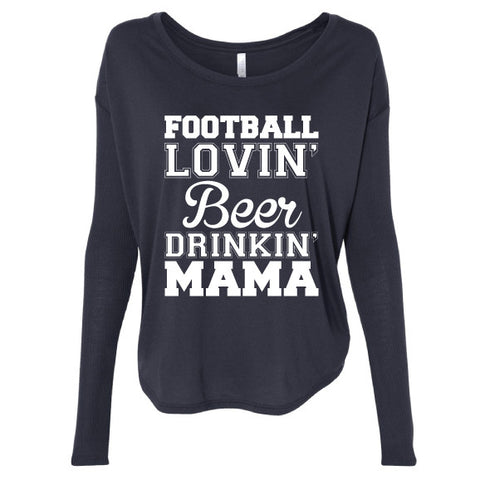 FOOTBALL LOVIN' MAMA Long Sleeve Tee {Pre-Order}