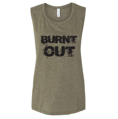 Burnt Out Muscle Tank