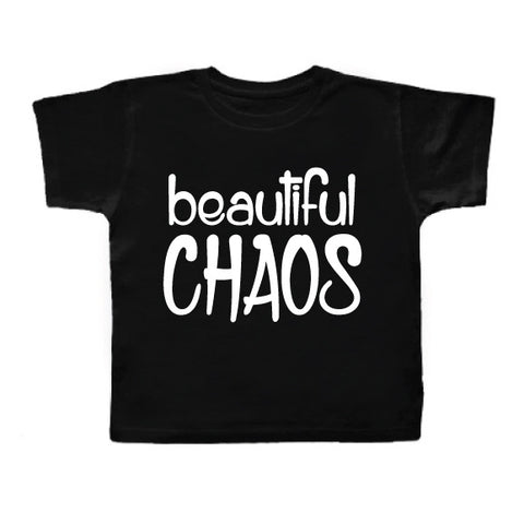 BEAUTIFUL CHAOS BLK TEE
