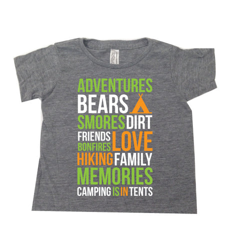 CAMPING IS IN TENTS Kids TEE {Pre-Order}
