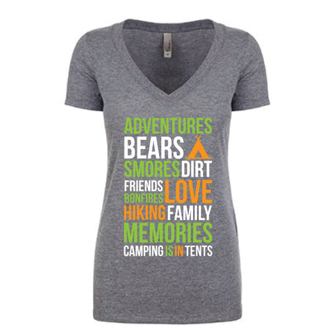 CAMPING IS IN TENTS Women's TEE