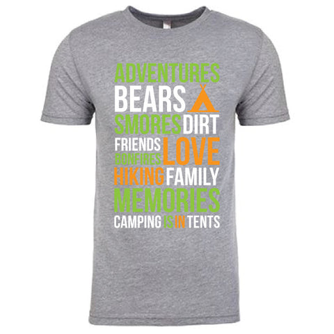 CAMPING IS IN TENTS Men's TEE {Pre-Order}