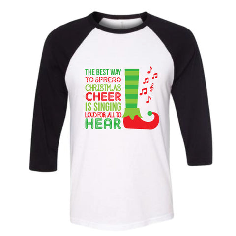 ELF CHEER Adult Raglan