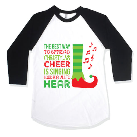 ELF CHEER Kid Raglan